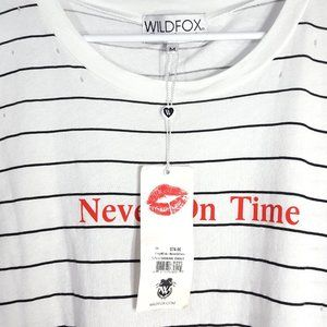 """Wildfox """"Never On Time"""" Muscle Tee"""